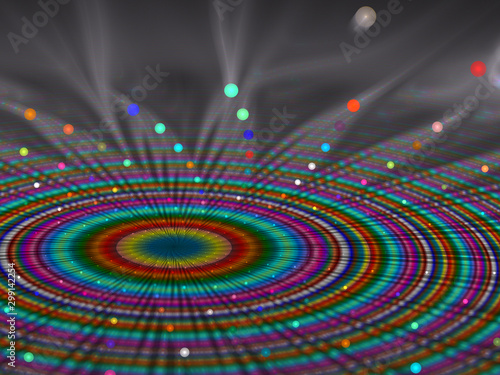 Photo Abstract background for creative projects depicting multicolour rays emerging as