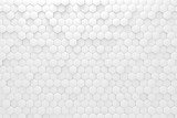 White geometric mosaic hexagonal abstract background. Computer generated abstract geometric. 3d rendering