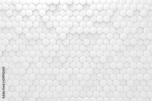 white-geometric-mosaic-hexagonal-abstract-background-computer-generated-abstract-geometric-3d-rendering