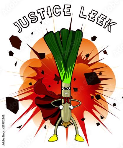 Fotografie, Tablou  Justice leek vegan superhero