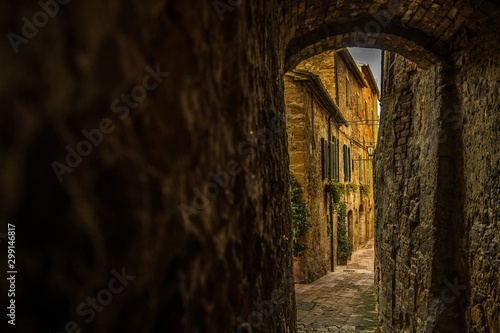 Canvas Prints Narrow alley Narrow Italian Village Streets