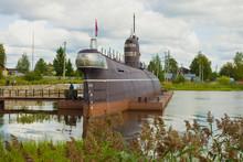Soviet Submarine On A Cloudy A...