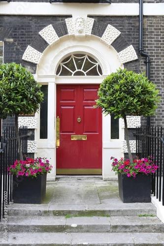Fototapeta drzwi   london-beautiful-door