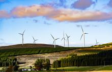 Wind Turbines In The Hillsand ...