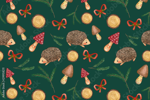 Christmas seamless pattern for decor and wrapping paper. Holiday decor.