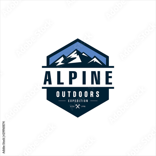 Alpine Mountain Adventure logo Canvas Print