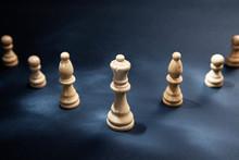 Chess Stones On The Dark Backg...