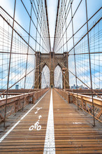 Brooklyn Bridge With Nobody In...