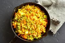Vegetarian Pilaf In Frying Pan