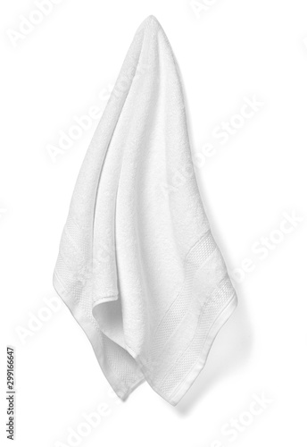 towel cotton bathroom white spa cloth textile Billede på lærred
