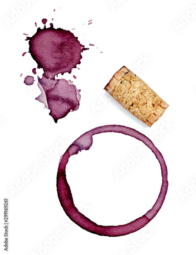 Obraz na plátně  wine stain corkscrew cork fleck beverage drink alcohol