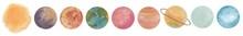 Solar System Planets Set. Spac...