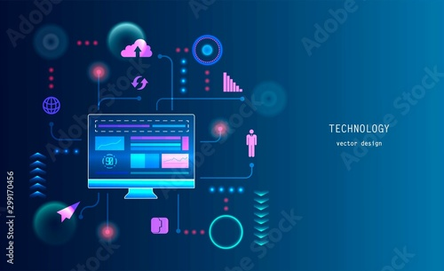 Conceptual background of web technology.