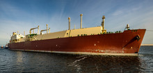 Lng Tanker Assisted By Tug Boa...