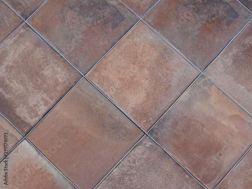 Pinturas sobre lienzo  floor tile background rustic red in ancient building Brown Tiles