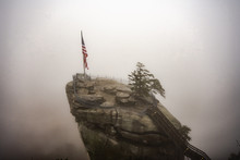Foggy Day On Chimney Rock Stat...