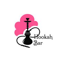 Hookah Bar Logo Design Isolate...