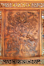 Chinese Traditional Wood Carving Arts And Crafts