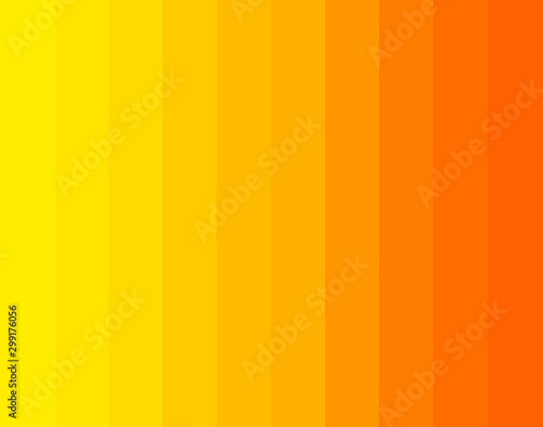 Orange and yellow gradient sunny stripes background. Canvas Print