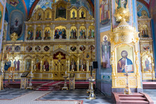 Iconostasis Of The Upper Hall Of The Transfiguration Cathedral Of The Valaam Monastery