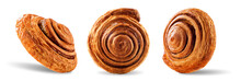 Cinnamon Bun On A White Isolated Background