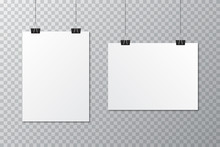 White Blank Poster Template Wi...