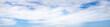 Leinwandbild Motiv Super wide angle panorama cloudy sky, natural background, banner format