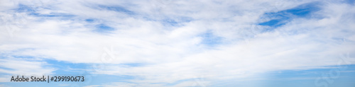 Obraz Super wide angle panorama cloudy sky, natural background, banner format - fototapety do salonu