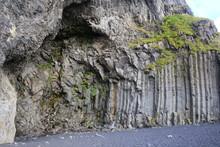 Textura De Paredes Rocosas De Montañas En Islandia