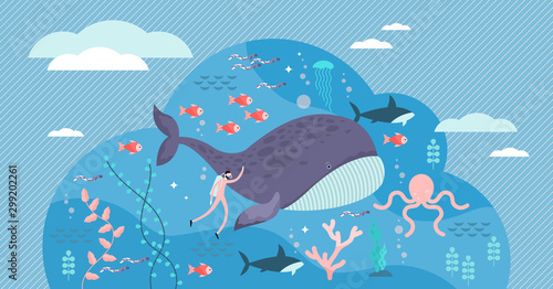 Photo marine life vector illustration