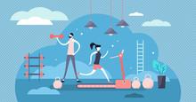 Daily Life Gym Vector Illustra...