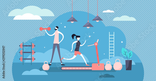 Daily life gym vector illustration Fototapete