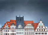 Fototapeta Na drzwi - Houses in the old town of Leipzig, Germany