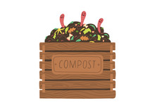 Compost Box With With Funny Wo...