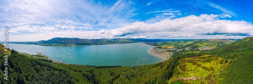 aerial panoramic view of mourne mountain area ,Northern Ireland Wallpaper Mural
