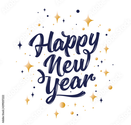 Cuadros en Lienzo Happy New Year. Lettering text for Happy New Year
