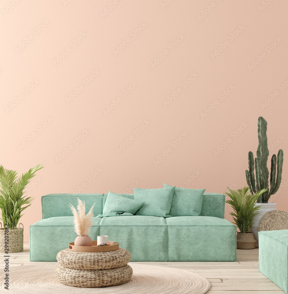 Fototapety, obrazy: Ultra modern interior background, Mexican style, 3D render