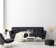 Leinwanddruck Bild - Minimalist modern living room interior background, 3D render