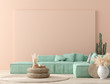 canvas print picture - Ultra modern interior background, Mexican style, 3D render