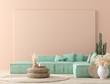 Leinwanddruck Bild - Ultra modern interior background, Mexican style, 3D render