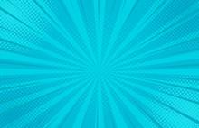 Abstract Blue Striped Retro Co...