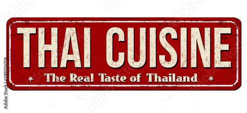 Poster de jardin Route Thai cuisine vintage rusty metal sign