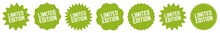 Limited Edition Tag Green Eco | Special Offer Icon | Sale Sticker | Deal Label | Variations