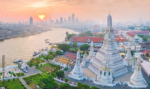 High angle view Bangkok Thailand Wallpaper Mural