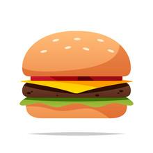 Cartoon Burger Vector Isolated...