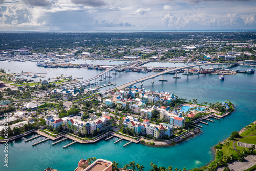 Aerial of Bahamas Nassau Canvas
