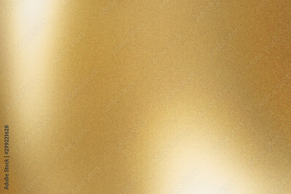 Fototapety, obrazy: Texture of gold metallic polished glossy with copy space, abstract background