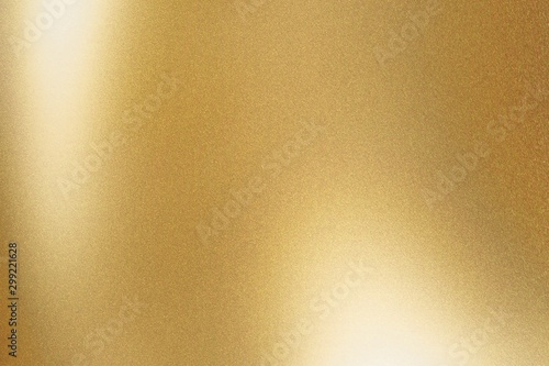 Photo Texture of gold metallic polished glossy with copy space, abstract background