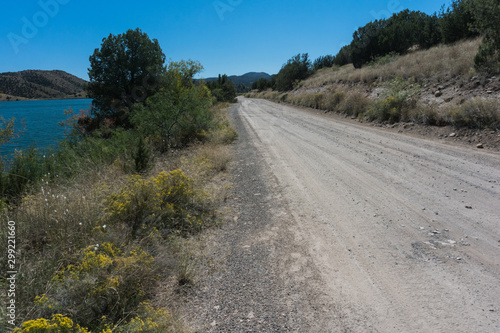 Photo  Bill Evans Lake roadway in  New Mexico near Silver City.