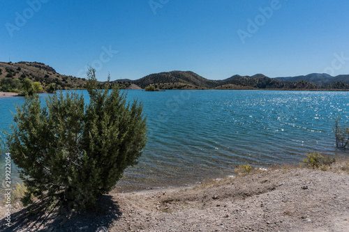 Photo  Bill Evans Lake shoreline in  New Mexico near Silver City.